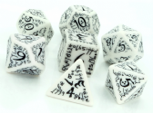 White & Black Elven Dice Set